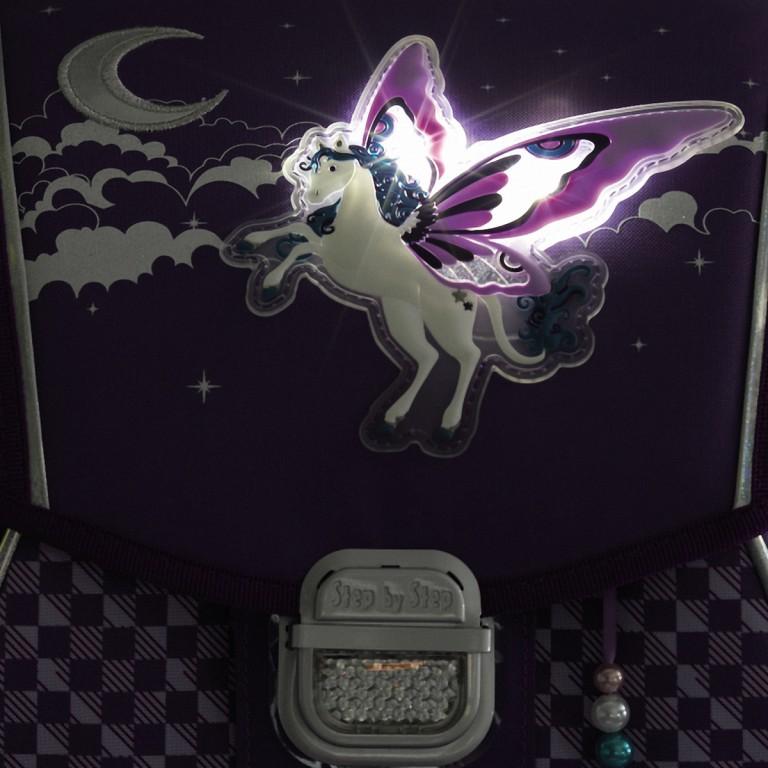 Step by Step Touch Flash Schulranzen-Set 5-tlg. Pegasus Purple, Farbe: flieder/lila, Marke: Step by Step, Abmessungen in cm: 33.0x38.5x23.5, Bild 6 von 6