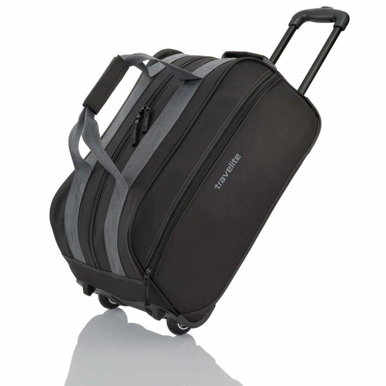 Travelite Basic Rollenreisetasche 55cm Schwarz, Farbe: schwarz, Marke: Travelite, Abmessungen in cm: 55.0x29.0x27.0, Bild 1 von 3