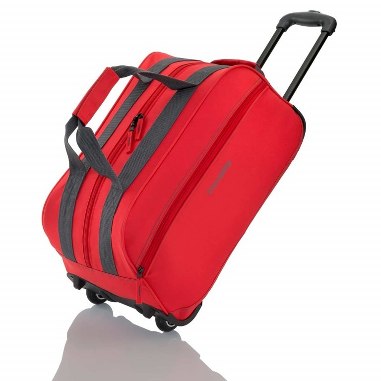 Travelite Basic Rollenreisetasche 55cm Rot, Farbe: rot/weinrot, Manufacturer: Travelite, Dimensions (cm): 55.0x29.0x27.0, Image 1 of 3