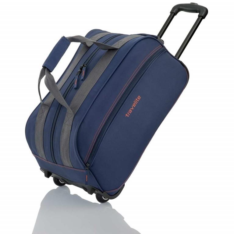 Travelite Basic Rollenreisetasche 55cm Blau, Farbe: blau/petrol, Marke: Travelite, Abmessungen in cm: 55.0x29.0x27.0, Bild 1 von 3