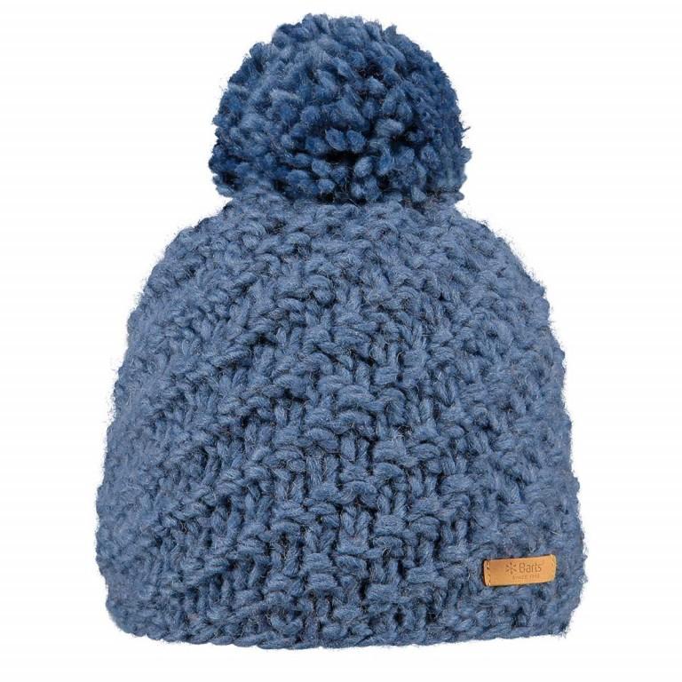 Barts Chani Pudelmütze Acryl Old Blue, Farbe: blau/petrol, Marke: Barts, EAN: 8717457474774, Bild 1 von 1