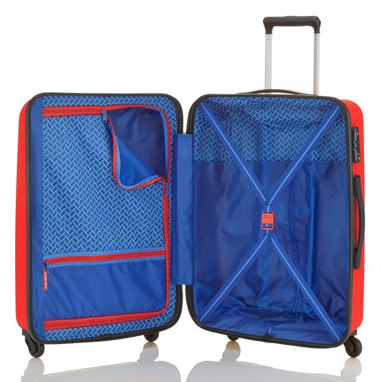 Travelite Uptown 4-Rad Trolley 65cm Rot, Farbe: rot/weinrot, Manufacturer: Travelite, Dimensions (cm): 45.0x65.0x26.0, Image 3 of 4