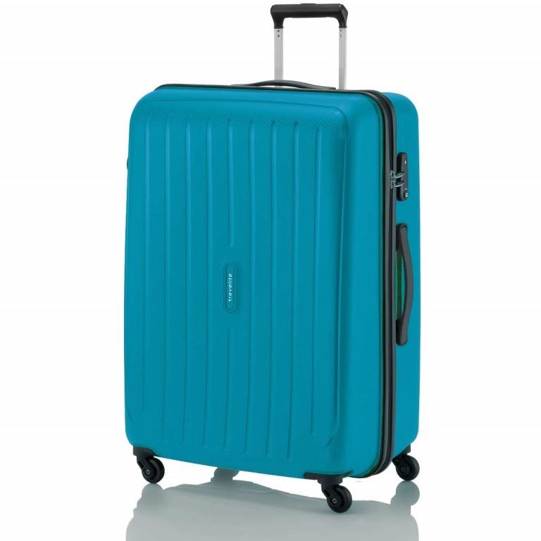Travelite Uptown 4-Rad Trolley 75cm Petrol, Farbe: blau/petrol, Marke: Travelite, Abmessungen in cm: 52.0x75.0x31.0, Bild 1 von 3