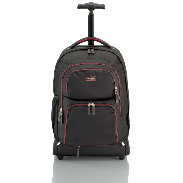 Travelite Filou 2-Rad Rucksack-Trolley 56cm Rot, Farbe: rot/weinrot, Manufacturer: Travelite, Dimensions (cm): 35.0x56.0x16.0, Image 2 of 11