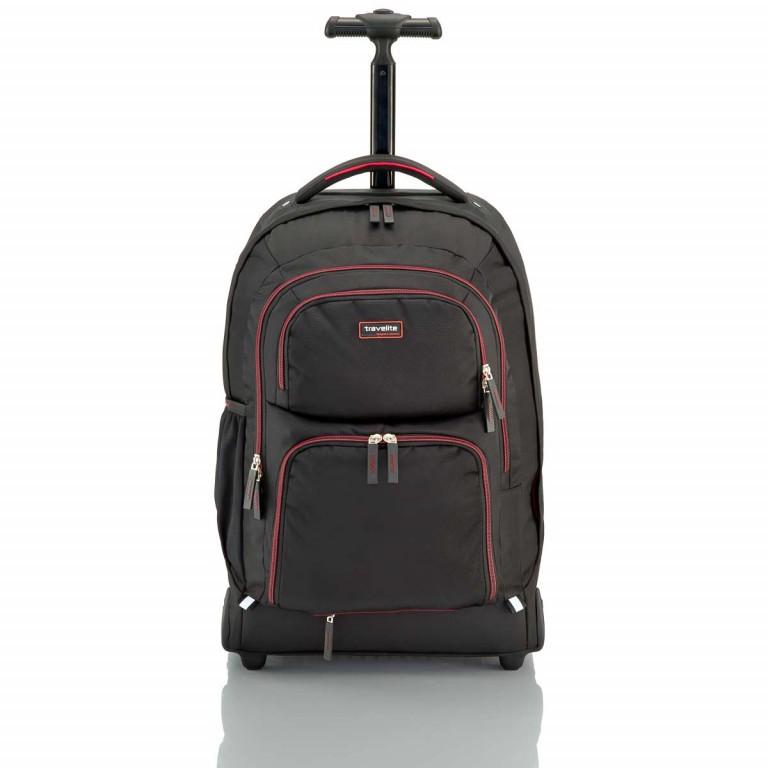 Travelite Filou 2-Rad Rucksack-Trolley 56cm Rot, Farbe: rot/weinrot, Marke: Travelite, Abmessungen in cm: 35.0x56.0x16.0, Bild 2 von 11