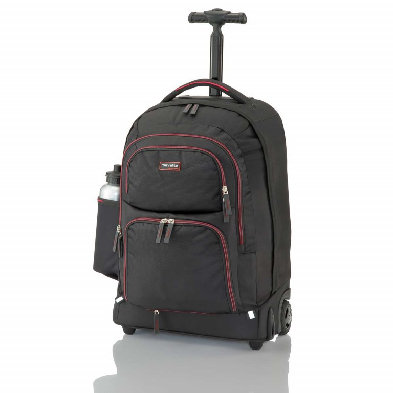 Travelite Filou 2-Rad Rucksack-Trolley 56cm Rot, Farbe: rot/weinrot, Manufacturer: Travelite, Dimensions (cm): 35.0x56.0x16.0, Image 3 of 11
