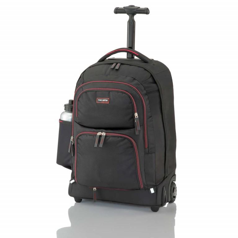 Travelite Filou 2-Rad Rucksack-Trolley 56cm Rot, Farbe: rot/weinrot, Marke: Travelite, Abmessungen in cm: 35.0x56.0x16.0, Bild 3 von 11