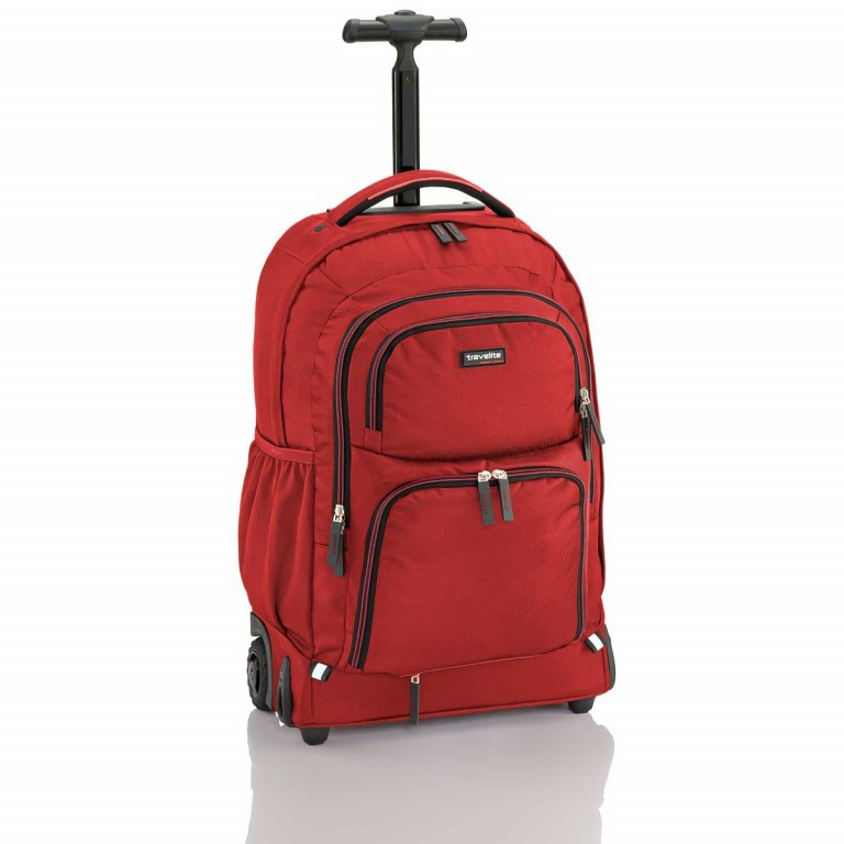 Travelite Filou 2-Rad Rucksack-Trolley 56cm Rot, Farbe: rot/weinrot, Manufacturer: Travelite, Dimensions (cm): 35.0x56.0x16.0, Image 1 of 11