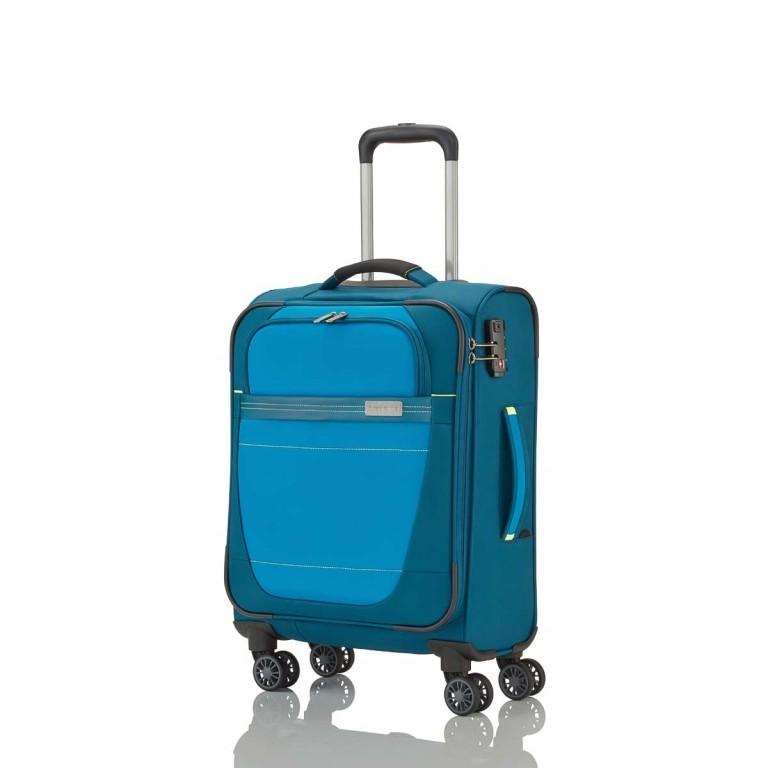 Travelite Meteor 4-Rad Trolley 55cm Petrol, Farbe: blau/petrol, Marke: Travelite, Abmessungen in cm: 38.0x55.0x20.0, Bild 2 von 4