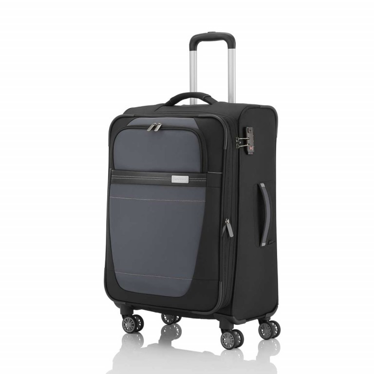 Travelite Meteor 4-Rad Trolley 66cm Schwarz, Farbe: schwarz, Marke: Travelite, Bild 2 von 4