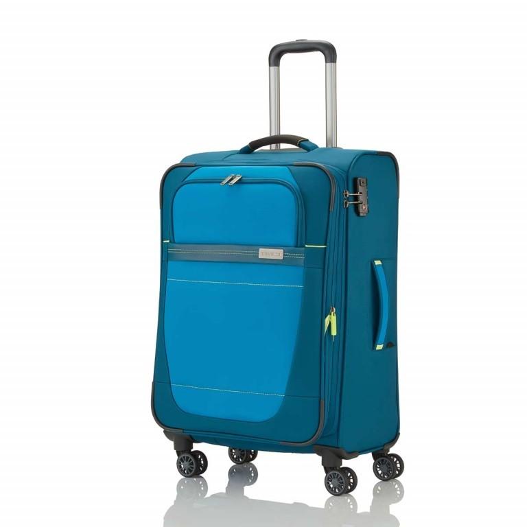 Travelite Meteor 4-Rad Trolley 66cm Petrol, Farbe: blau/petrol, Marke: Travelite, Bild 2 von 4