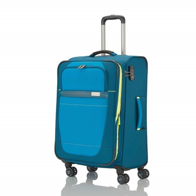 Travelite Meteor 4-Rad Trolley 55cm Petrol, Farbe: blau/petrol, Marke: Travelite, Abmessungen in cm: 38.0x55.0x20.0, Bild 3 von 4