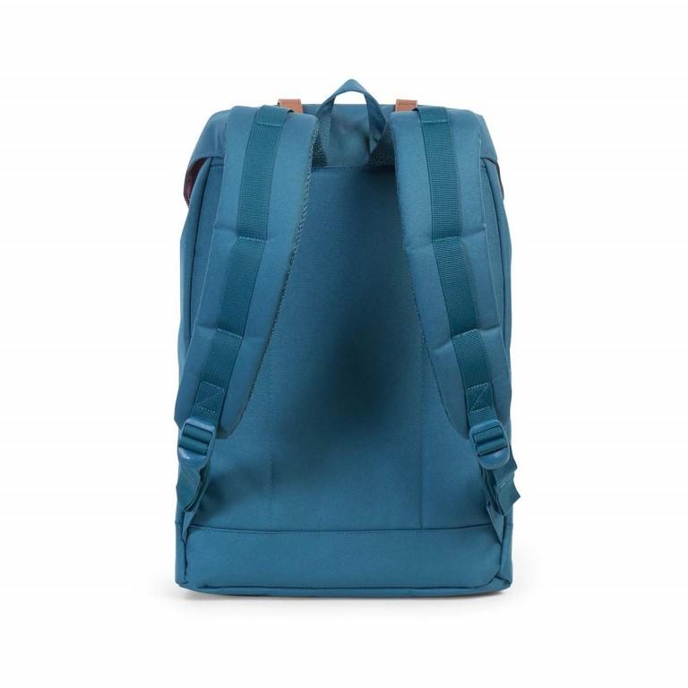 Herschel Rucksack Retreat 18L Indian Teal Tan, Farbe: blau/petrol, Marke: Herschel, EAN: 828432100736, Abmessungen in cm: 34.0x46.0x12.0, Bild 4 von 4