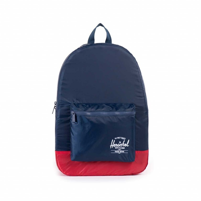 Herschel Rucksack Packable Daypack Navy Red, Farbe: blau/petrol, Marke: Herschel, EAN: 828432012114, Abmessungen in cm: 32.0x45.0x14.0, Bild 1 von 4