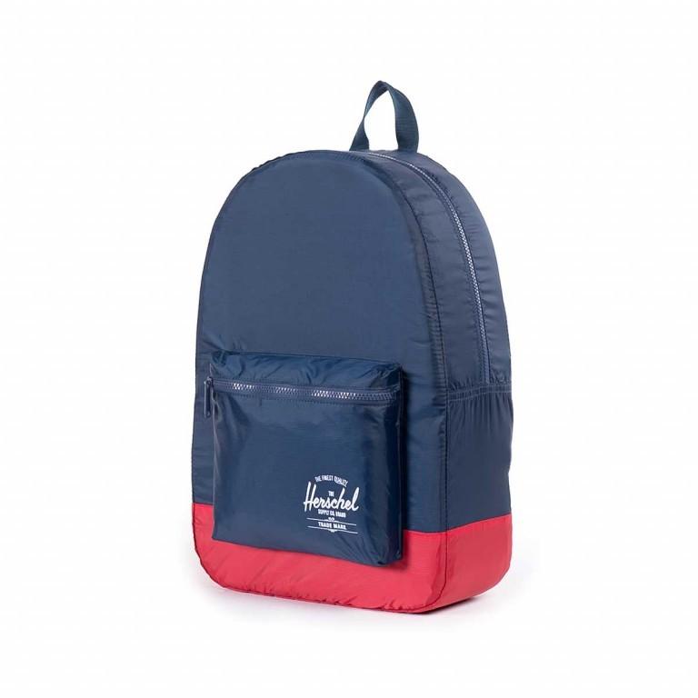 Herschel Rucksack Packable Daypack Navy Red, Farbe: blau/petrol, Manufacturer: Herschel, EAN: 828432012114, Dimensions (cm): 32.0x45.0x14.0, Image 2 of 4