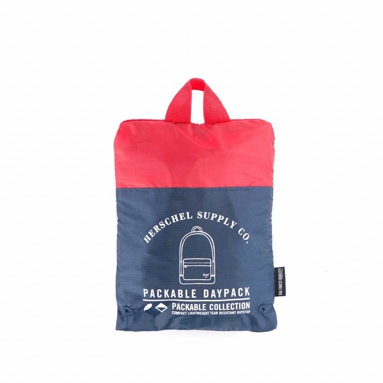 Herschel Rucksack Packable Daypack Navy Red, Farbe: blau/petrol, Marke: Herschel, EAN: 828432012114, Abmessungen in cm: 32.0x45.0x14.0, Bild 4 von 4