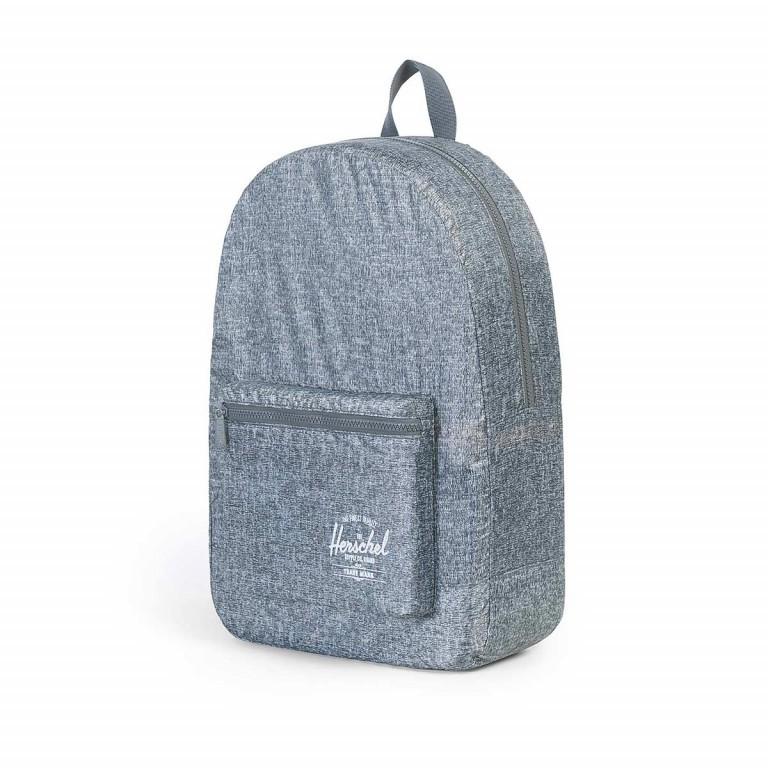 Herschel Rucksack Packable Daypack Raven Crosshatch, Farbe: grau, Marke: Herschel, EAN: 828432091881, Abmessungen in cm: 32.0x45.0x14.0, Bild 2 von 4