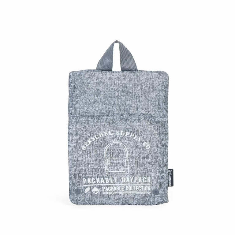 Herschel Rucksack Packable Daypack Raven Crosshatch, Farbe: grau, Manufacturer: Herschel, EAN: 828432091881, Dimensions (cm): 32.0x45.0x14.0, Image 4 of 4