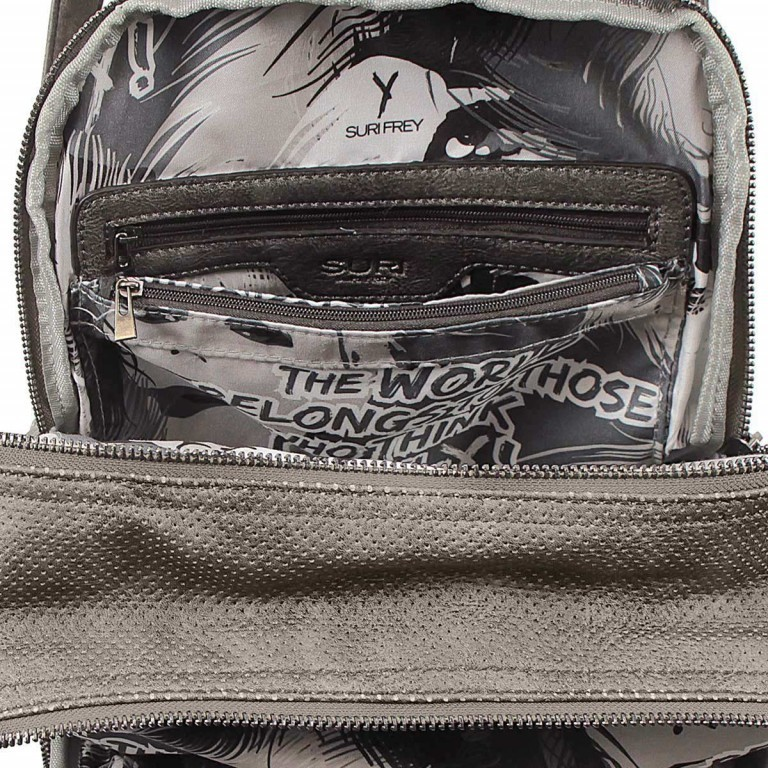 SURI FREY Romy Rucksack Reißverschluss Synthetik Dark Grey, Farbe: grau, Marke: Suri Frey, Abmessungen in cm: 26.0x36.0x10.0, Bild 6 von 7