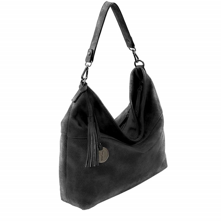 SURI FREY Romy Beutel M Reißverschluss Synthetik II Black, Farbe: schwarz, Marke: Suri Frey, Abmessungen in cm: 42.0x33.0x10.0, Bild 2 von 5