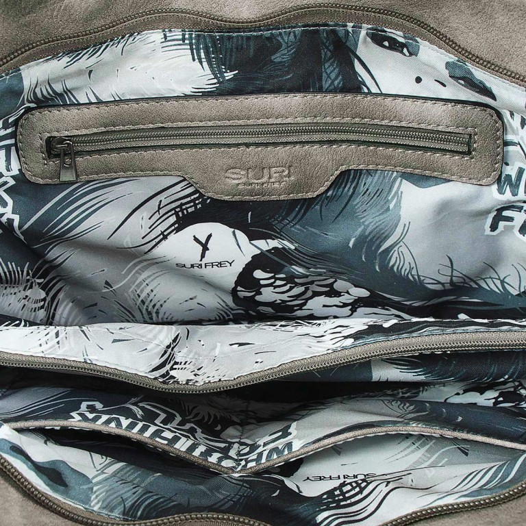 SURI FREY Romy Beutel M Reißverschluss Synthetik Dark Grey, Farbe: grau, Manufacturer: Suri Frey, Dimensions (cm): 42.0x33.0x10.0, Image 5 of 5