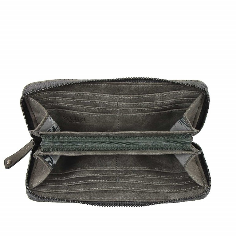 SURI FREY Romy Flachbörse Reißverschluss Synthetik Dark Grey, Farbe: grau, Marke: Suri Frey, Abmessungen in cm: 20.0x10.0x2.0, Bild 3 von 4