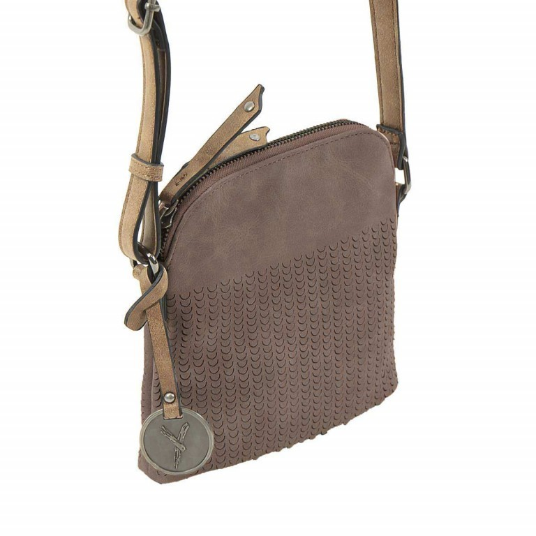 SURI FREY Ruby Crossbag S Reißverschluss Synthetik Brown, Farbe: braun, Marke: Suri Frey, Abmessungen in cm: 18.0x17.0x5.0, Bild 1 von 5