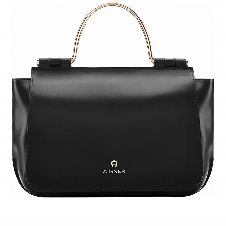 AIGNER Lexi Bag S 132037, Farbe: schwarz, grün/oliv, Marke: Aigner, Abmessungen in cm: 31.0x19.0x8.5, Bild 1 von 1