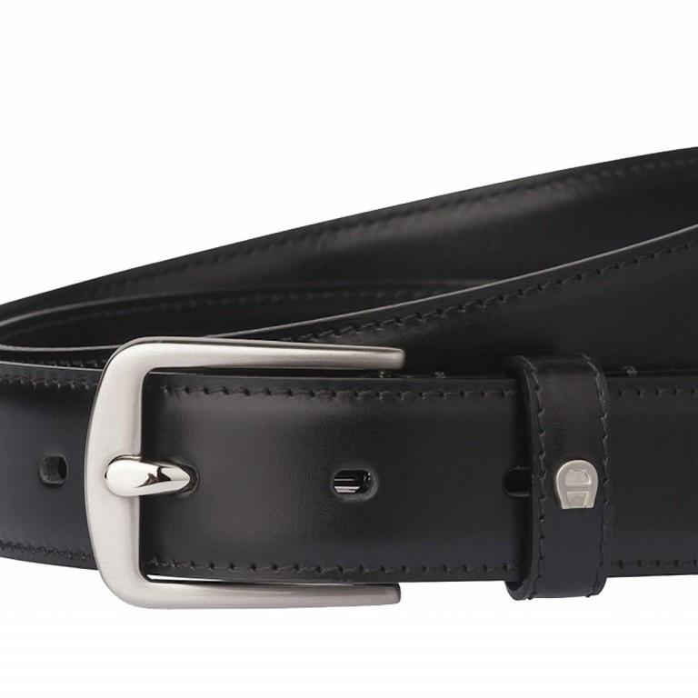 AIGNER Daily Basis Gürtel 125554 110cm Black, Farbe: schwarz, Marke: Aigner, Bild 2 von 2