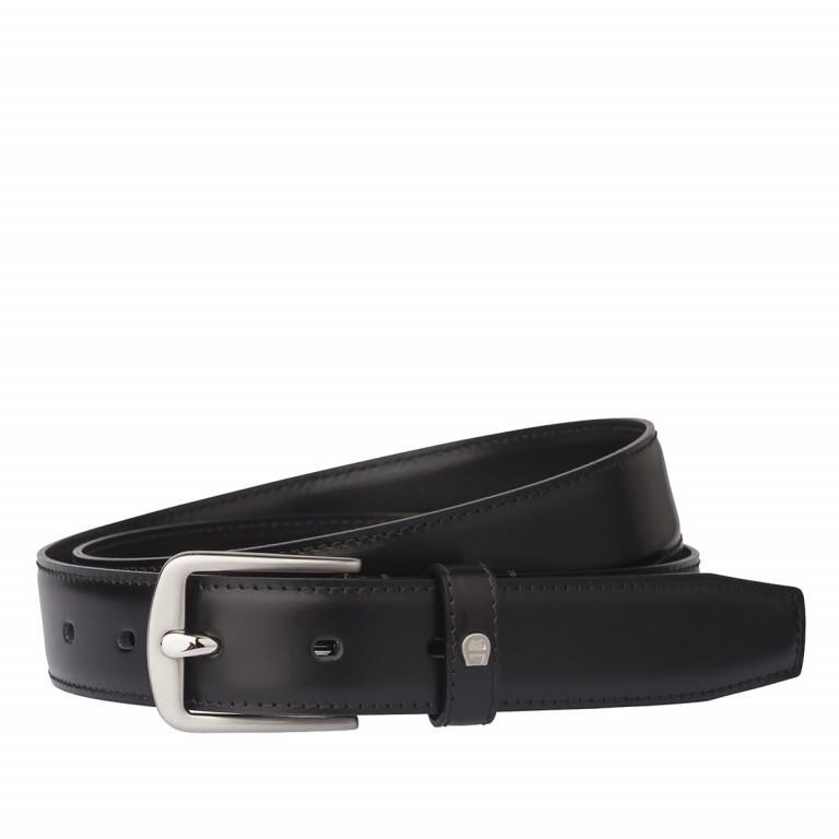 AIGNER Daily Basis Gürtel 125554 110cm Black, Farbe: schwarz, Marke: Aigner, Bild 1 von 2