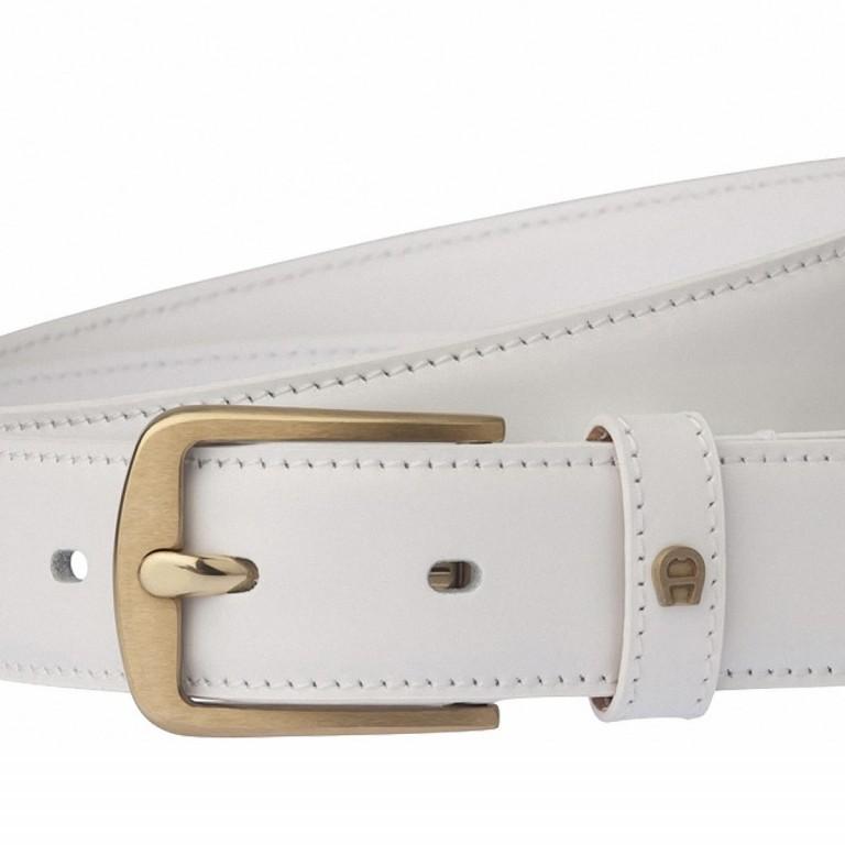 AIGNER Daily Basis Gürtel 125564 100cm White, Farbe: weiß, Marke: Aigner, Abmessungen in cm: 115.0x3.0, Bild 2 von 2