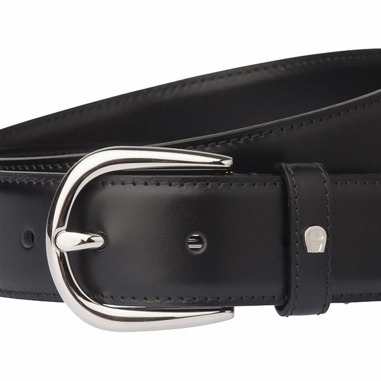 AIGNER Daily Basis Gürtel 126371 110cm Black, Farbe: schwarz, Marke: Aigner, Abmessungen in cm: 125.0x3.0, Bild 2 von 2