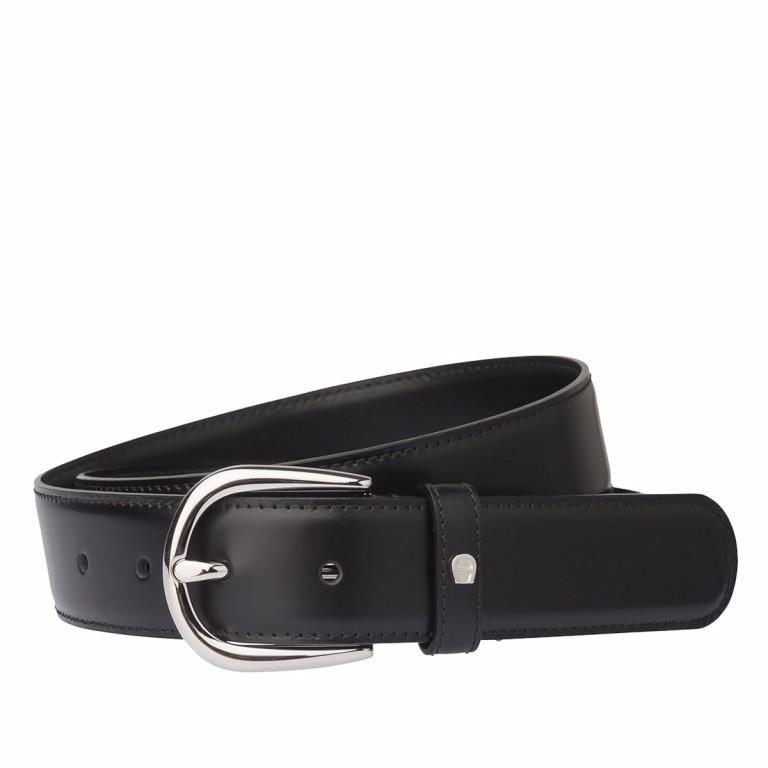 AIGNER Daily Basis Gürtel 126371 110cm Black, Farbe: schwarz, Marke: Aigner, Abmessungen in cm: 125.0x3.0, Bild 1 von 2