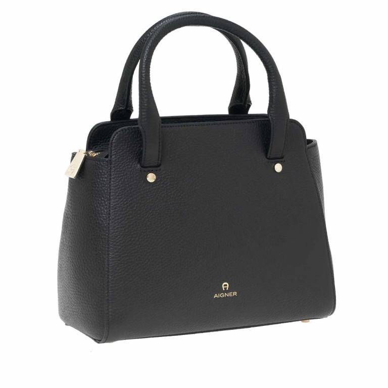 AIGNER Ivy Handtasche 133423 Black, Farbe: schwarz, Marke: Aigner, Abmessungen in cm: 24.0x21.0x9.0, Bild 2 von 3