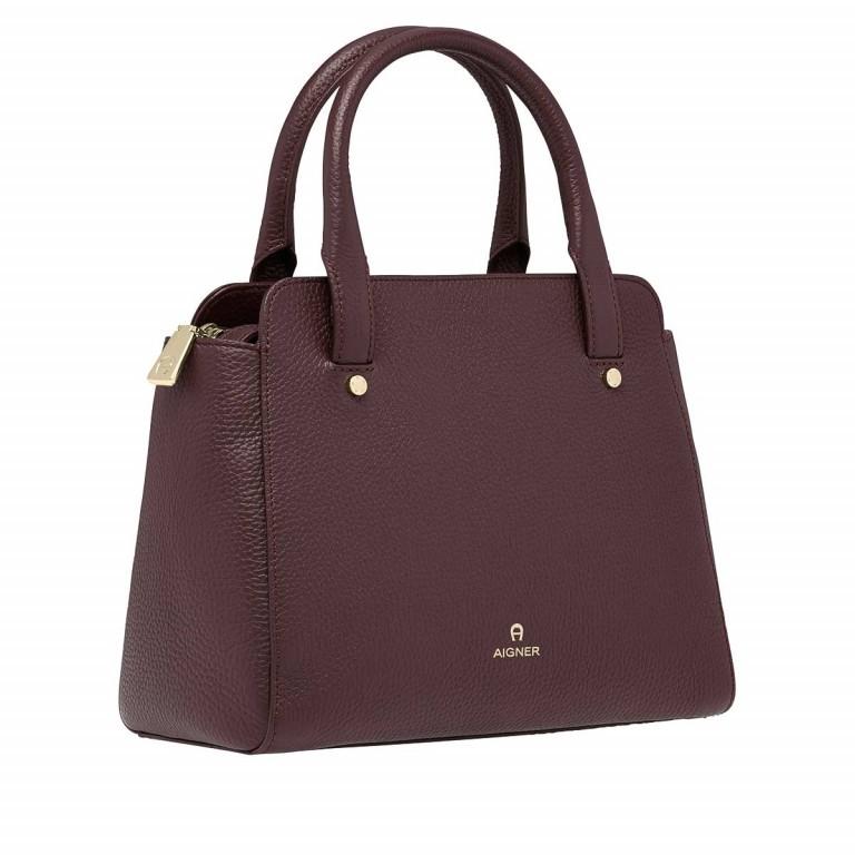 AIGNER Ivy Handtasche 133423 Bordeaux, Farbe: rot/weinrot, Marke: Aigner, Abmessungen in cm: 24.0x21.0x9.0, Bild 2 von 3