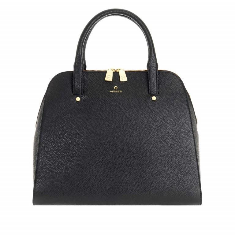 AIGNER Ivy Handtasche 133424 Black, Farbe: schwarz, Marke: Aigner, Abmessungen in cm: 34.0x28.0x10.0, Bild 1 von 3
