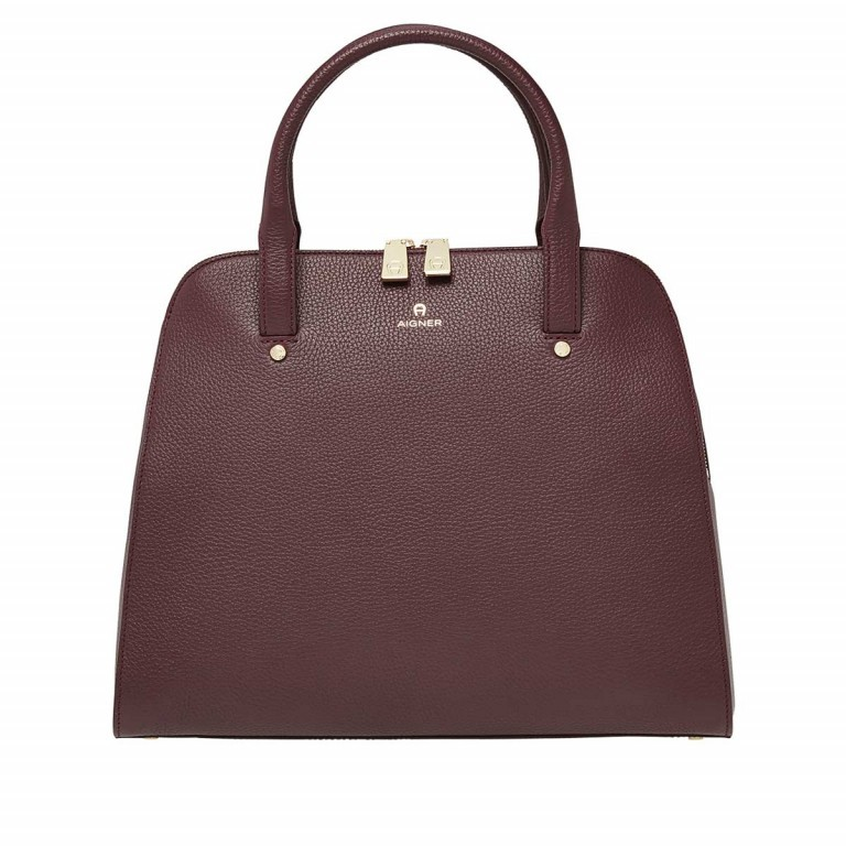 AIGNER Ivy Handtasche 133424 Bordeaux, Farbe: rot/weinrot, Manufacturer: Aigner, Dimensions (cm): 34.0x28.0x10.0, Image 1 of 3