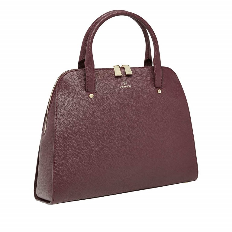 AIGNER Ivy Handtasche 133424 Bordeaux, Farbe: rot/weinrot, Manufacturer: Aigner, Dimensions (cm): 34.0x28.0x10.0, Image 2 of 3
