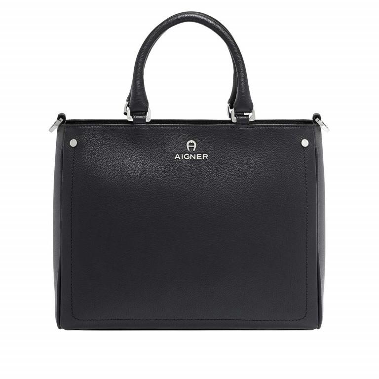AIGNER Ava Handtasche 133512 Black, Farbe: schwarz, Marke: Aigner, Abmessungen in cm: 30.5x25.0x13.0, Bild 1 von 3