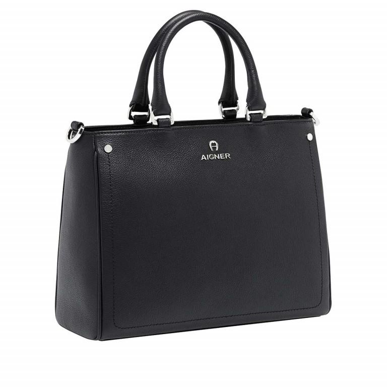 AIGNER Ava Handtasche 133512 Black, Farbe: schwarz, Marke: Aigner, Abmessungen in cm: 30.5x25.0x13.0, Bild 2 von 3