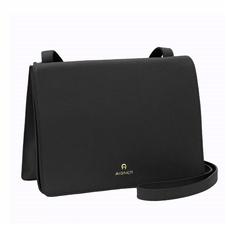 AIGNER Ivy Mini-Tasche 135168 Black, Farbe: schwarz, Marke: Aigner, Abmessungen in cm: 23.5x18.0x10.0, Bild 2 von 3