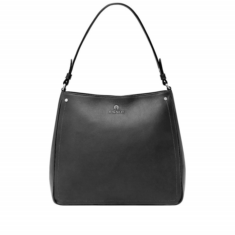 AIGNER Ava Beutel 136334 Black, Farbe: schwarz, Marke: Aigner, Abmessungen in cm: 34.0x29.0x12.0, Bild 1 von 3