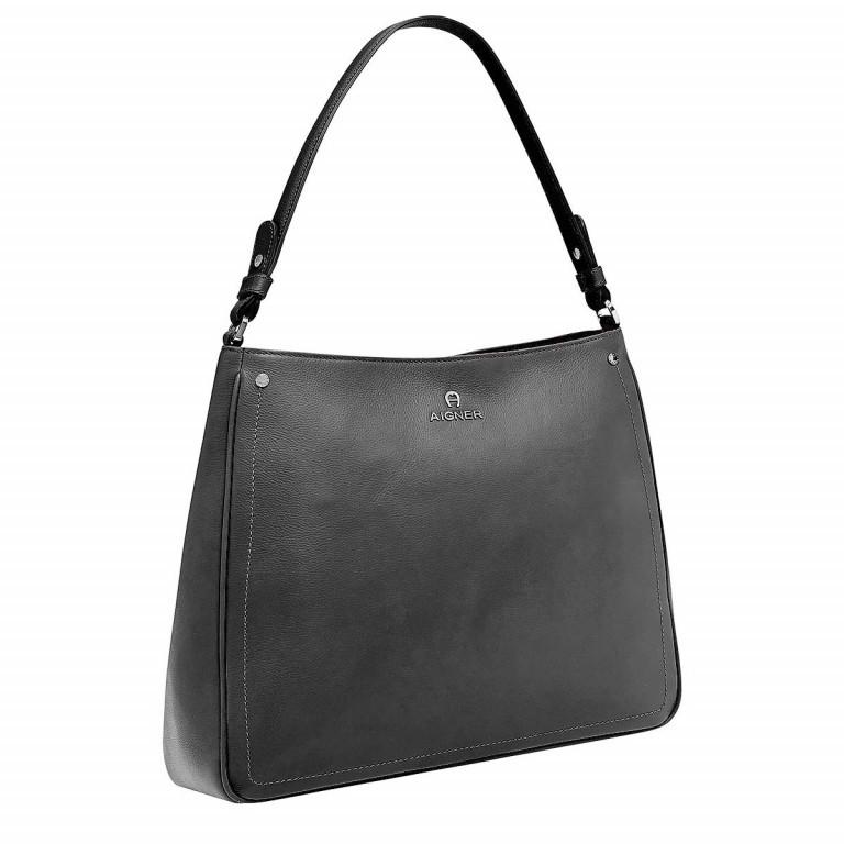 AIGNER Ava Beutel 136334 Black, Farbe: schwarz, Marke: Aigner, Abmessungen in cm: 34.0x29.0x12.0, Bild 2 von 3