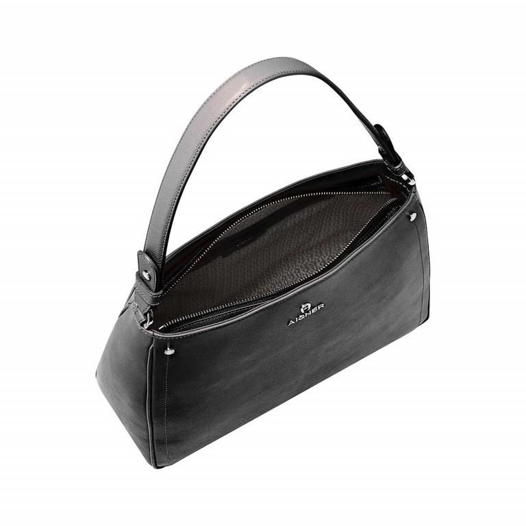 AIGNER Ava Beutel 136334 Black, Farbe: schwarz, Marke: Aigner, Abmessungen in cm: 34.0x29.0x12.0, Bild 3 von 3