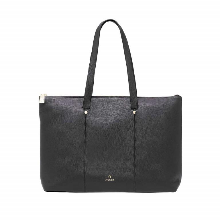 AIGNER Ivy Shopper 137593 Black, Farbe: schwarz, Marke: Aigner, Abmessungen in cm: 42.0x30.0x13.0, Bild 1 von 3