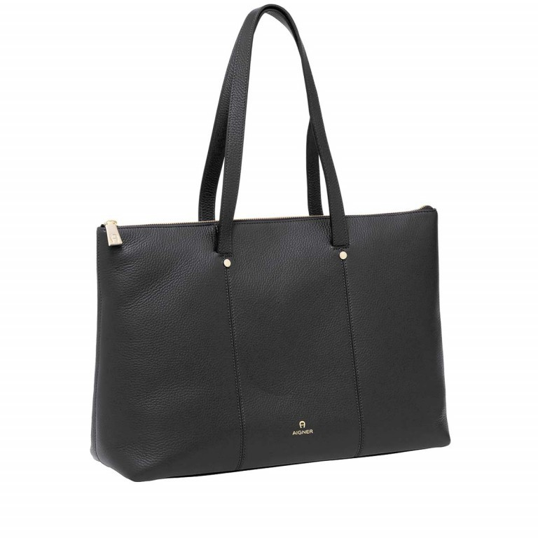 AIGNER Ivy Shopper 137593 Black, Farbe: schwarz, Marke: Aigner, Abmessungen in cm: 42.0x30.0x13.0, Bild 2 von 3