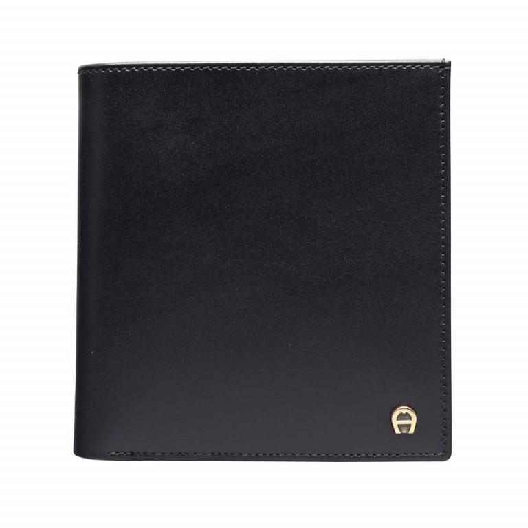 AIGNER Daily Basis Geldbörse 151737 Black, Farbe: schwarz, Marke: Aigner, Abmessungen in cm: 9.5x10.0x1.0, Bild 1 von 2