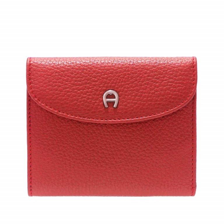AIGNER Basics Damenbörse 152206 Red, Farbe: rot/weinrot, Marke: Aigner, Abmessungen in cm: 12.0x10.0x2.0, Bild 1 von 2