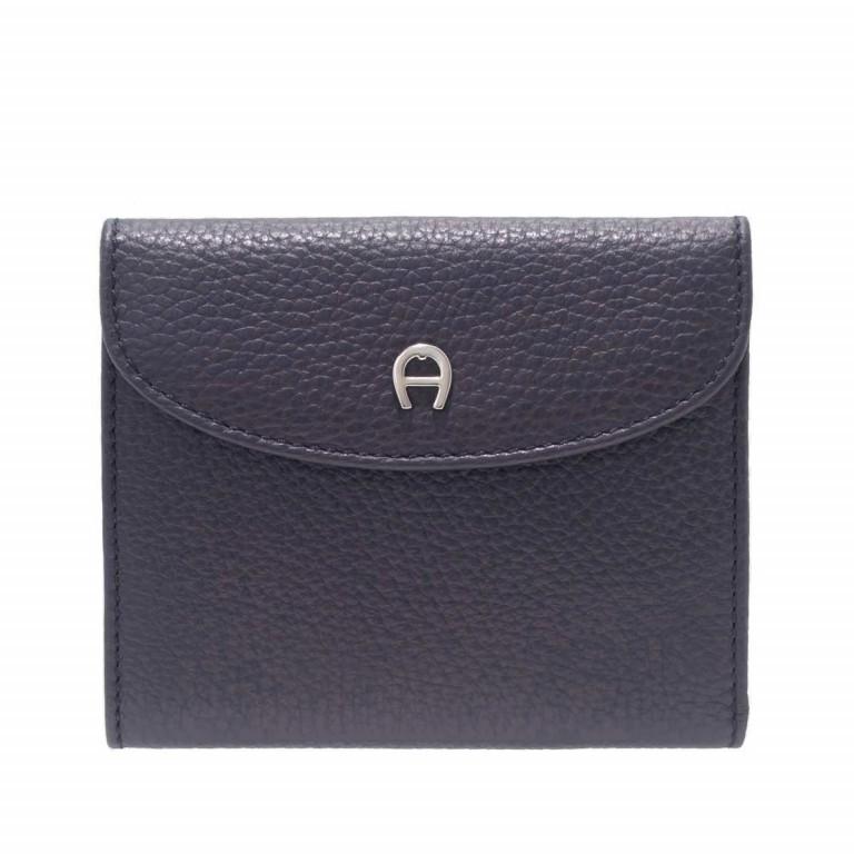 AIGNER Basics Damenbörse 152206 Marine, Farbe: blau/petrol, Marke: Aigner, Abmessungen in cm: 12.0x10.0x2.0, Bild 1 von 2