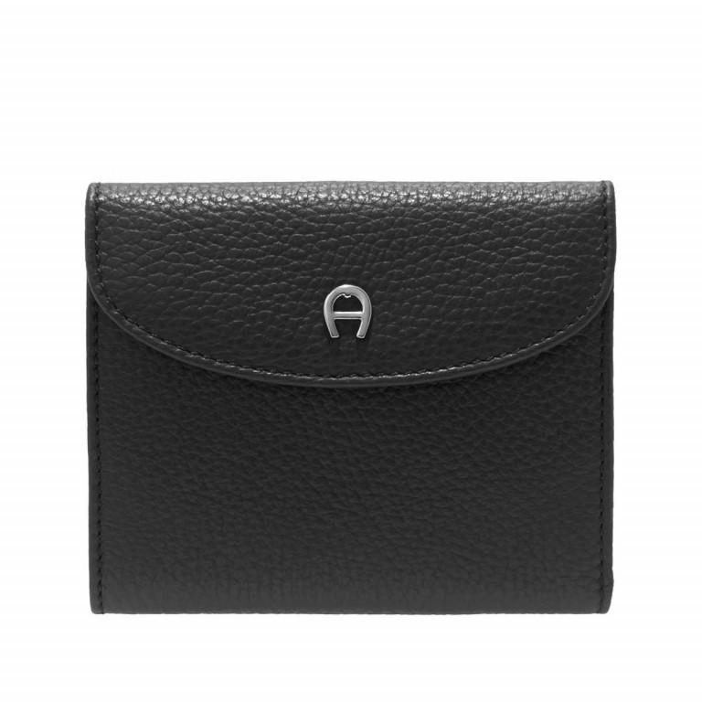 AIGNER Basics Damenbörse 152206 Black, Farbe: schwarz, Marke: Aigner, Abmessungen in cm: 12.0x10.0x2.0, Bild 1 von 2
